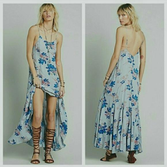 0080bbffbee21 Free People Dresses | Nwt Fp Star Chasing Maxi Dress Sz M | Poshmark